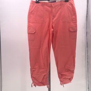 Gloria vanderbilt coral crop pants sz 14